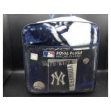 NIP New York Yankees Royal Plush Raschel Blanket