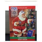 1990 NFL Pro Set Santa Clause Card
