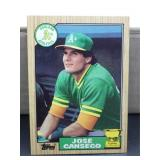 1987 Topps Jose Canseco Card #620