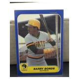 1986 Fleer Barry Bonds Rookie Card # U-14