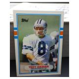 Troy Aikman Rookie Card 1989 Topps Traded #70T