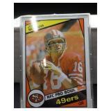 1984 Topps Joe Montana Card #358 NFC Pro Bowl