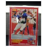 1989 Score Thurman Thomas Rookie Card #211