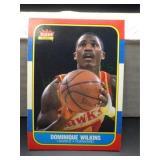 1986 Fleer Dominique Wilkins Card #121