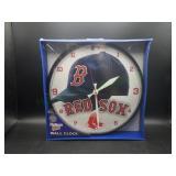 "NIP Boston Red Sox 12"" Round Wall Clock"