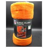 NIP Cleveland Browns Super Plush Throw Blanket