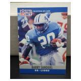 Barry Sanders 1990 NFL Pro Set Card #102