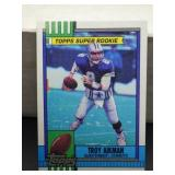 1990 Topps Troy Aikman Rookie Card #482