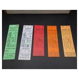 (5) 1974 Tickets form The Cleveland Arena