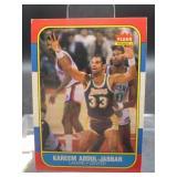 1986 Fleer Kareem Abdul-Jabbar Card #1