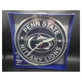 "NIB Penn State 12"" Round Wall Clock"