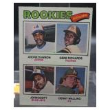 1977 Rookie Outfielders Topps Card #473