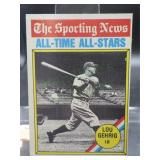 1976 Topps Lou Gehrig Card #341