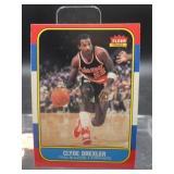 1986 Fleer Clyde Drexler Card #26 of 132