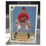 1991 Upper Deck Chipper Jones Rookie Card #55