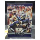 1990 Troy Aikman Rookie Card #78 NFL Pro Set Card