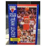 1991-92 Fleer Michael Jordan Team Leader Card
