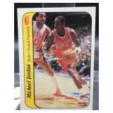 Michael Jordan 1986 Fleer Sticker Card #8