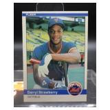 1984 Fleer Darryl Strawberry Rookie Card #599