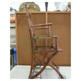 Vintage Wooden Highchair/ Seat Combo