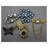 6 Beautiful Pins/Brooches