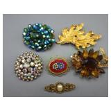 6 Various Pins/Brooches