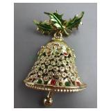 Vintage Tanger II Christmas Bell Brooch