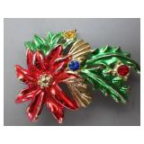 Ladies Holly Brooch