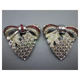 Vtg Pair of Rhinestone Shoe, Shaw or Dress Clips