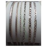 6 Bracelets Stamped 925