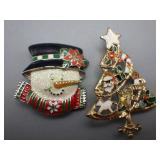 2 Christmas Pins/Brooches