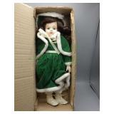 """Christmas Around the World"" porcelain doll"