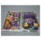Lot featuring The MAXX w/ Comic & COA!