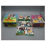 NFL Football trading card wax box breaks!