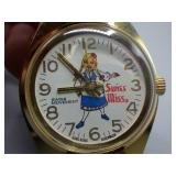 Vintage Swiss Miss Cocoa Advertising watch!