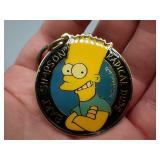 Original 1990 Bart Simpson Radical Dude keychain