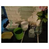 7pc Misc Flower Vases and pots