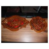2 Piece Ceramic Ash Tray Lot