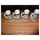 Vintage 4 Small Avon Steins