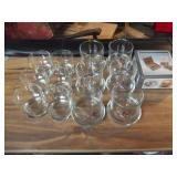16 Glasses and 6pc Coaster Set