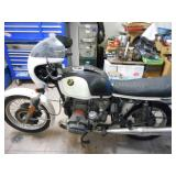 White 197? BMW R100S Motorcycle