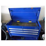Blue Rolling Tool Cart with Drawers