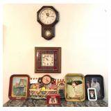 4-Coke clocks, salt & pepper & trays