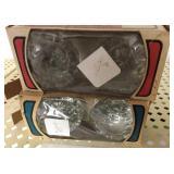 2-Vintage glass door knobs in box