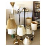 Large group of lamps