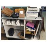 Counter, fax machine & misc. office items