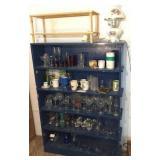 blue shelf & contents