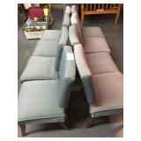8-blue cloth chairs