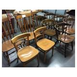 10-wood dining room chairs