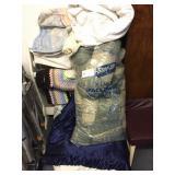 quilt rack & bedding